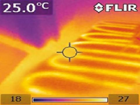 床下暖房の効果測定